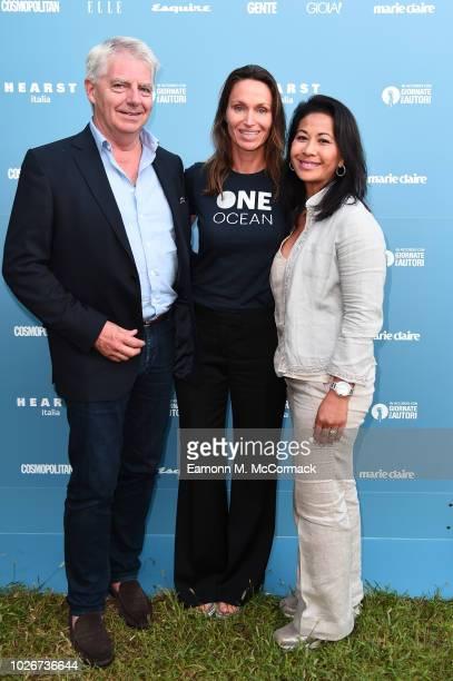 Anne de Carbuccia Leon Kruimer and Pisamai Kruimer attend One Ocean at Venice Film Festival on September 4 2018 in Venice Italy