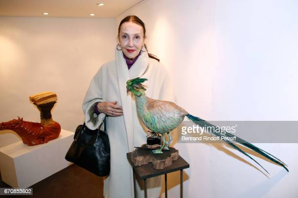 Anne de Castro attends the Rose De Ganay Exhibition Preview at Atelier Visconti on April 20 2017 in Paris France