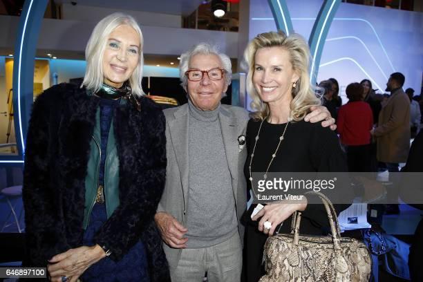 Anne de Champigneul, Photographer Jean-Daniel Lorieux and his wife Laura Restelli-Brizard attend the Christophe Guillarme show as part of the Paris...