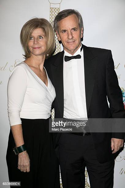 Anne de la Villardiere and Bernard de la Villardiere attend 'The Best Award Gala 40th Edition' at Four Seasons George V hotel on January 27 2017 in...