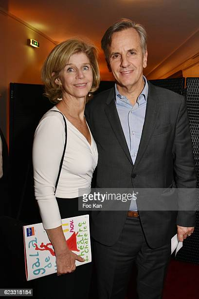 Anne de la Villardiere and Bernard de la Villardiere attend the Gala de L'Espoir 2016 at Theatre du Chatelet on November 14 2016 in Paris France