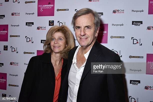 Anne de La VillardiereÊand Bernard de La Villardiere attend the 'Des Amours Desamour' Premiere at Cinema Gaumont Opera on February 1 2016 in Paris...