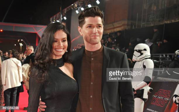 Anne De Paula and Danny O'Donoghue attend the European Premiere of Star Wars The Last Jedi at the Royal Albert Hall on December 12 2017 in London...