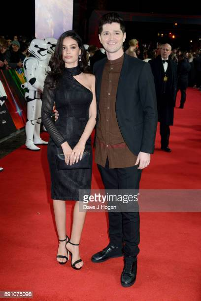 Anne De Paula and Danny O'Donoghue attend the European Premiere of 'Star Wars The Last Jedi' at Royal Albert Hall on December 12 2017 in London...