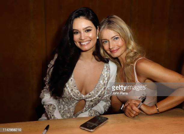Anne de Paula and Paulina Porizkova attend the Sports Illustrated Swimsuit 2019 Issue Launch at Seaspice on May 10 2019 in Miami Florida
