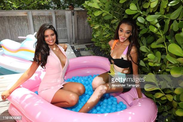 Anne de Paula andWinnie Harlow attend Sports Illustrated's 2019 Model Search Open Casting Call During Miami Swim Week At W South Beach Day 2 at W...