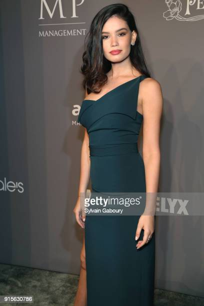 Anne De Paula attends 2018 amfAR Gala New York Arrivals at Cipriani Wall Street on February 7 2018 in New York City