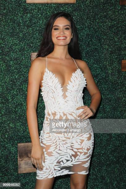 Anne de Paula attends the 2018 Sports Illustrated Swimsuit show at PARAISO during Miami Swim Week at The W Hotel South Beach on July 15 2018 in Miami...