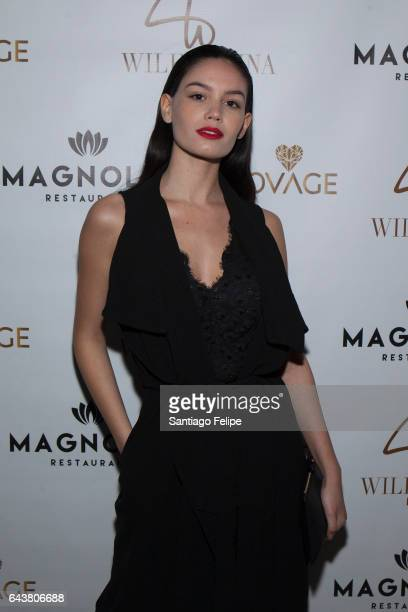 Anne De Paula attends Wilhelmina's Mainboard And Curve Board post fashion week party at Lovage on February 21 2017 in New York City