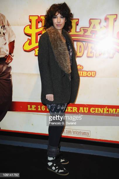 Anne De Petrini attends the 'Halal Police D'Etat' Paris Premiere at UGC Cine Cite Bercy on February 15 2011 in Paris France