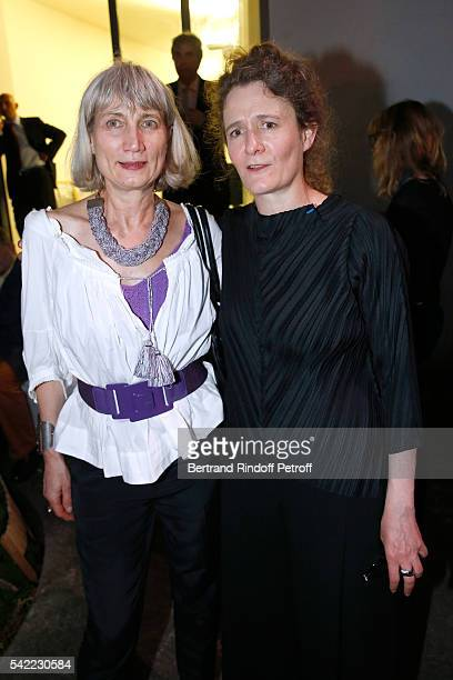 Anne de Villepoix and companion of Dominique Perrault artistic director Gaelle LauriotPrevost attend Dominique Perrault becomes a Member of the...