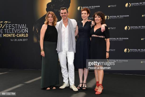 Anne DecisJerome BertinMarie Reache and Stephanie Pareja from 'Plus belle la vie' attend a photocall during the 57th Monte Carlo TV Festival Day 3 on...