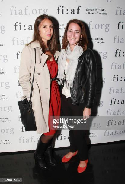 Anne Denysenko and Violetta Malakhova attend the FIAF's Young Patrons Fall Fete at FIAF on September 24 2018 in New York City