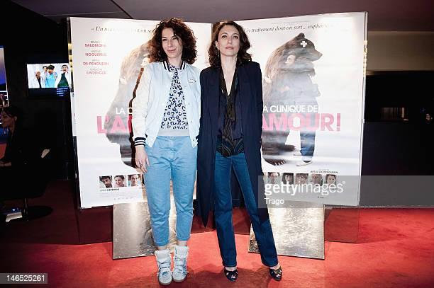 Anne Depetrini and Natacha Lindinger Attend 'La Clinique de L'Amour' Paris Premiere at UGC Cine Cite des Halles on June 18, 2012 in Paris, France.