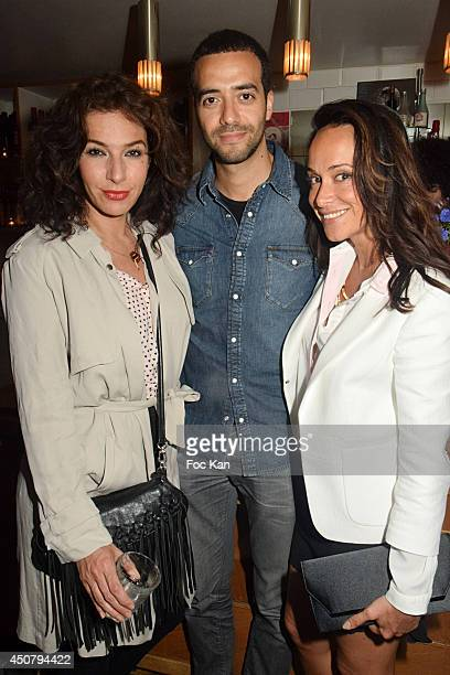 Anne Depetrini Tarek Boudali and Karine Lima attend 'La Rue Aygo En Mode Fun' Party Hosted By Toyota At 14 Rue Muller on June 17 2014 in Paris France