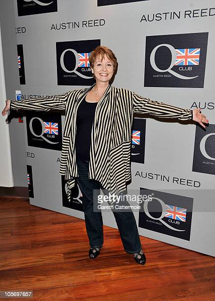 Anne Diamond attends the Austin Reed Q Club Launch at the Austin Reed Regent Street store on October 19 2010 in London England