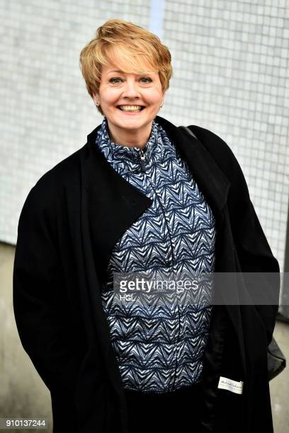 Anne Diamond seen at the ITV Studios on January 25 2018 in London England