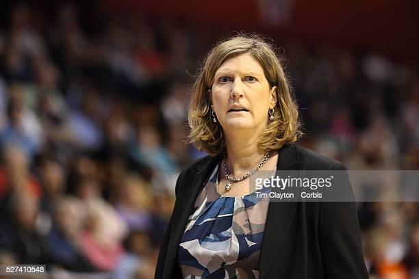 Anne Donovan head coach of the Connecticut Sun on the sideline during the Connecticut Sun Vs New York Liberty WNBA regular season game at Mohegan Sun...