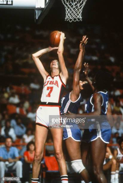 Anne Donovan of the USA attempts a shot during the Women's Basketball competition of the 1983 Pan American Games held from August 1427 1983 in...