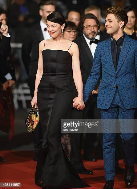 Anne Dorval and Xavier Dolan attend the 'Mommy' premiere during the 67th Annual Cannes Film Festival on May 22 2014 in Cannes France