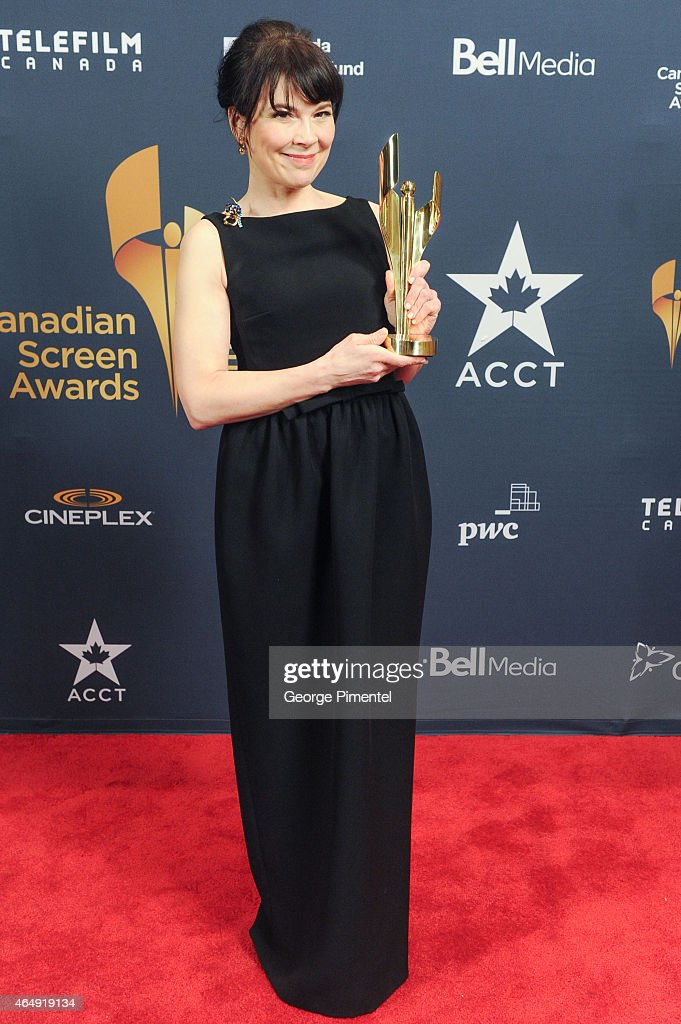 Anne Dorval poses in the press room at the 2015 Canadian Screen Awards at the Four Seasons Centre for the Performing Arts on March 1, 2015 in Toronto, Canada.