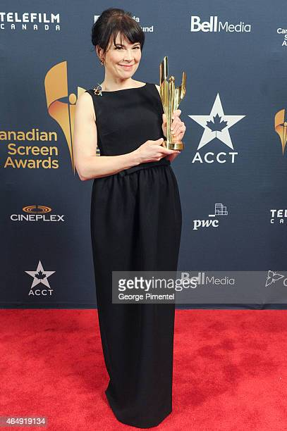 Anne Dorval poses in the press room at the 2015 Canadian Screen Awards at the Four Seasons Centre for the Performing Arts on March 1 2015 in Toronto...