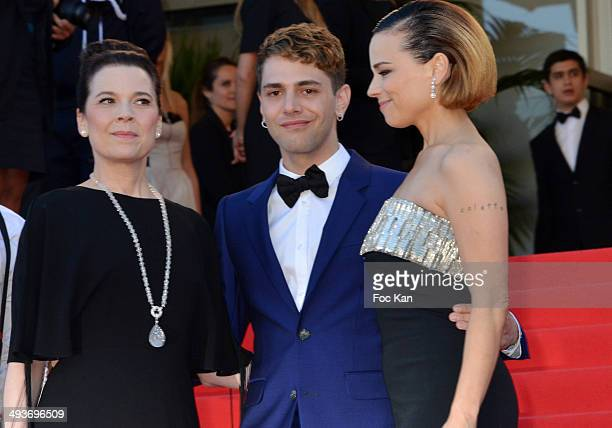 Anne Dorval Xavier Dolan and Suzanne Clement attend the Closing Ceremony and 'A Fistful of Dollars' Screening during the 67th Annual Cannes Film...