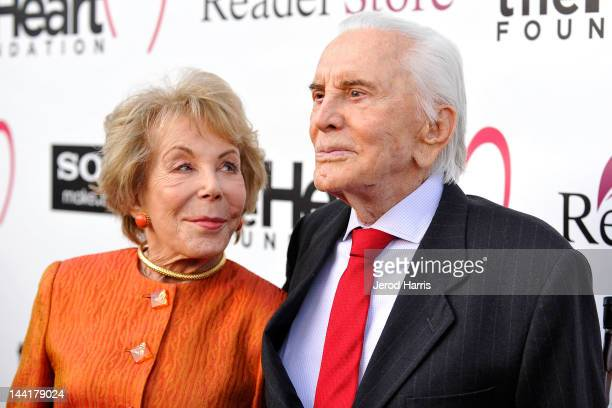 Anne Douglas and Kirk Douglas arrive at the Heart Foundation Gala Arrivals at the Hollywood Palladium on May 10 2012 in Los Angeles California