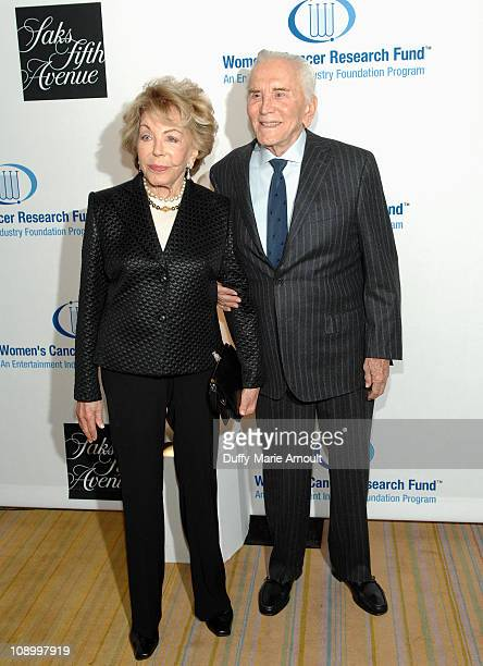 Anne Douglas and Kirk Douglas attend An Unforgettable Evening Benefiting EIF's Women's Cancer Research Fund at the Beverly Wilshire Four Seasons...