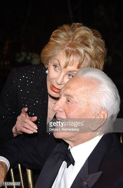 Anne Douglas and Kirk Douglas during American Legacy Foundation Honors Kirk Douglas at Cipriani's East 42nd Street in New York City New York United...