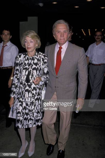Anne Douglas and Kirk Douglas during Premiere of Licence to Kill Los Angeles at Director's Guild Theater in Hollywood California United States