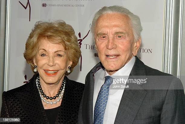 Anne Douglas and Kirk Douglas during The Heart Foundation Gala Honoring Anne Douglas and Kirk Douglas at Beverly Hilton Hotel in Beverly Hills...