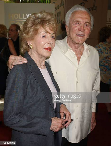 Anne Douglas and Kirk Douglas during The Hollywood Foreign Press Association's Annual Installation Luncheon at Beverly Hills Hotel in Beverly Hills...