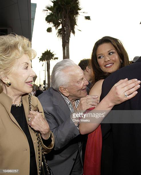 Anne Douglas Kirk Douglas Catherine ZetaJones during Premiere of 'The InLaws' at Cinerama Dome in Hollywood California United States