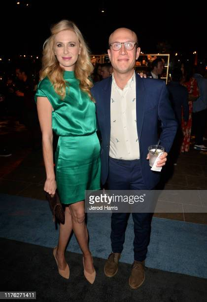 Anne Dudek and Adam Lustick attend Comedy Central's Emmy Party at Dream Hotel on September 21 2019 in Hollywood California