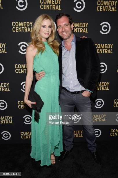 Anne Dudek and guest attends Comedy Central's Emmys Party at The Highlight Room at the Dream Hotel on September 16 2018 in Hollywood California