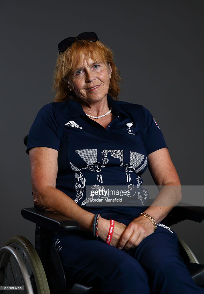 Anne Dunham, a member of the ParalympicsGB Equestrian team, poses for a portrait during the Paralympics GB Media Day at Park Plaza Westminster Bridge Hotel on July 16, 2016 in London, England.