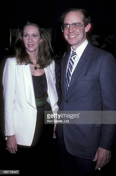 Anne Eisenhower and David Eisenhower attend the benefit for Columbian Volcano Victims on December 17 1985 at Christie's Auction House in New York City