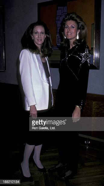 Anne Eisenhower and Pliar Crespi attend the benefit for Columbian Volcano Victims on December 17 1985 at Chrstie's Auction House in New York City