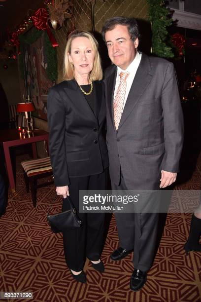 Anne Eisenhower and Wolfgang Flottl attend A Christmas Cheer Holiday Party 2017 Hosted by George Farias Anne and Jay McInerney at The Doubles Club on...