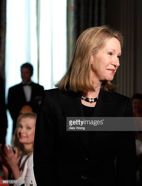 Anne Eisenhower daughter of former President John Eisenhower is introduced during a Mother�s Day event hosted by US first lady Michelle Obama at the...