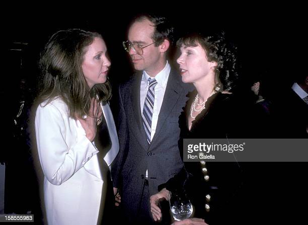 Anne Eisenhower David Eisenhower and Julie Nixon attend the Benefit Auction for Victims of the Columbian Volcano Nevado del Ruiz on Decmeber 17 1985...