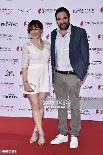 Anne Elisabeth Blateau and David Mora attend the 57th Monte Carlo TV Festival Opening Ceremony on June 16 2017 in MonteCarlo Monaco