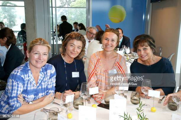 Anne Elisabeth Lemoine MarieChristine Maheas MarieLaure Sauty de Chalon and Anne Sinclair attend the 'France Television' Lunch during the 2018 French...
