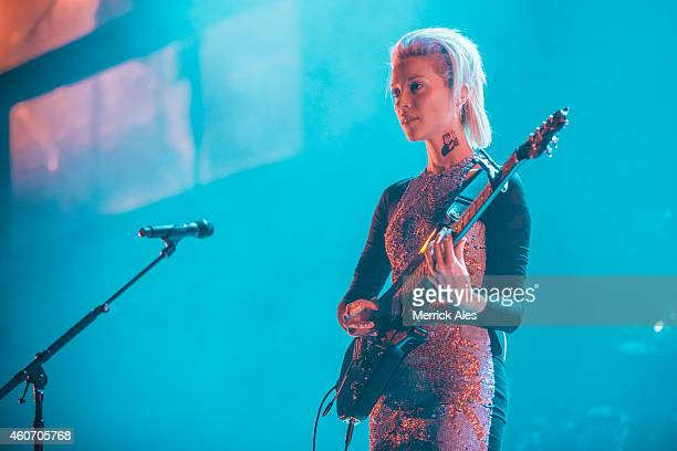 Anne Erin 'Annie' Clark of St Vincent opening for The Black Keys at The Frank Erwin Center on December 19 2014 in Austin Texas
