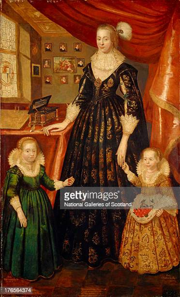 Anne Erskine Countess of Rothes d 1640 Wife of the 6th Earl of Rothes by George Jamesone 1626 Oil on canvas