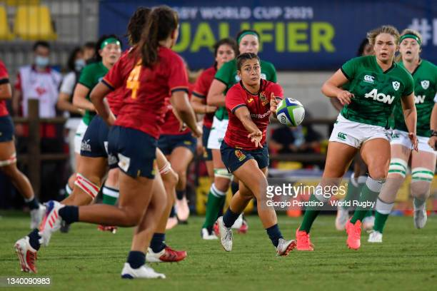 Anne Fernandez de Corres of Spain in action during the Rugby World Cup 2021 Europe Qualifying match between Spain and Ireland at Stadio Sergio...