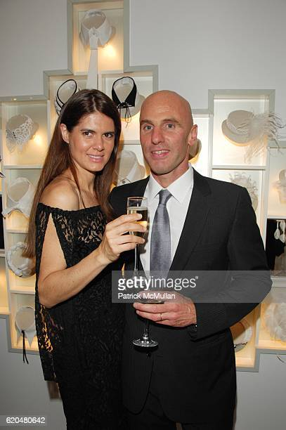 Anne Fontaine and Ari Zlotkin attend ANNE FONTAINE US Flagship Store Grand Opening at Anne Fontaine NYC on June 3 2008 in New York City