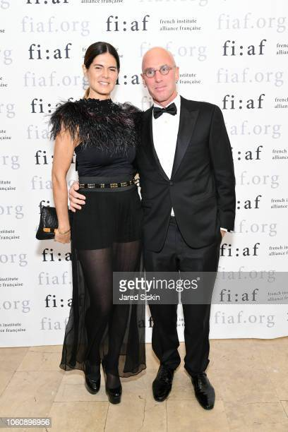 Anne Fontaine and Ari Zlotkin attend FIAF Trophee des Arts Gala at The Plaza Hotel on November 12 2018 in New York City