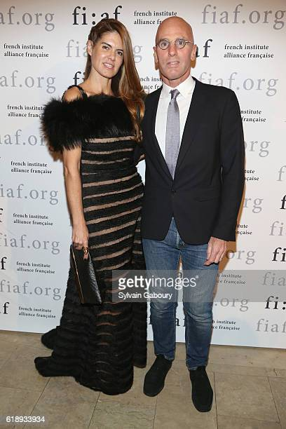 Anne Fontaine and Ari Zlotkin attends Jeff Koons and Jean Paul Agon Honored at French Institute Alliance Francaise Trophee des Arts Gala at The Plaza...